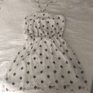 Express white halter dress